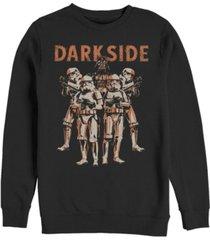 fifth sun star wars standing room only men's long sleeve fleece crew neck sweater