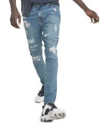 tommy hilfiger denim men's skinny-fit stretch destroyed jeans
