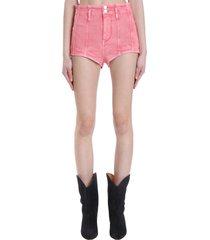 isabel marant deversonsr shorts in rose-pink denim