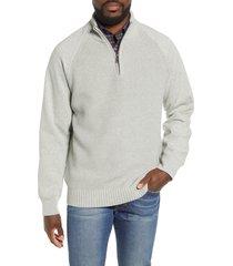 men's rodd & gunn rabbit island quarter zip pullover sweater, size x-large - grey