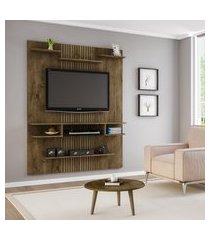 painel estante para tv moura madeira ripado casah