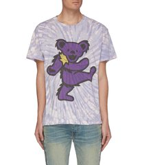 'grateful dead bear' graphic print tie dye t-shirt