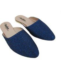 zuecos - mules - azul brillante