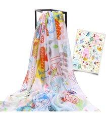 lyza 200cm signorina scialle lunga oversize con stampa digitale multifunzionale telo mare sciarpa