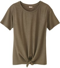 shirt met ronde hals en bindstrik voor, salie 36/38