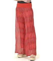 pantalón gasa rayado italiano rojo bous
