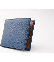 billetera aleta reverse azul/naranja
