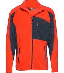 kleivane microfleece jacket sweat-shirt tröja orange skogstad
