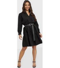 object collectors item objkaiko l/s dress a q loose fit dresses