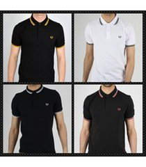 fred perry men's twin tipped short sleeve polo shirts