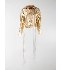 dsquared2 laced leather jacket