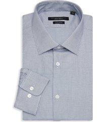 john varvatos star u.s.a. men's spencer regular-fit check dress shirt - cornflower - size 15 l