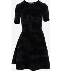 dsquared2 designer dresses & jumpsuits, short sleeves women's dress