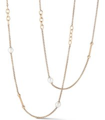 alor women's goldtone stainless steel & 6-8mm freshwater pearl necklace