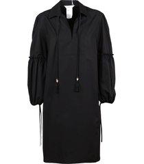 max mara black cotton dress