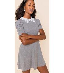 phoebe ribbed knit mini dress - heather gray
