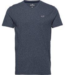 v solids t-shirts short-sleeved blå hollister