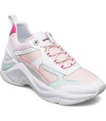 fashion wedge sneaker sneakers skor rosa tommy hilfiger