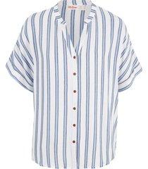 camicia a maniche corte in fantasia  a righe (blu) - john baner jeanswear