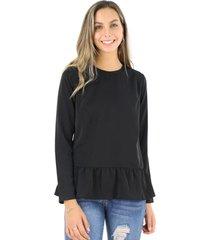 blusa sofia negra jacinta tienda