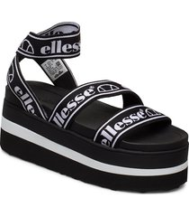 el elina blk/wht shoes summer shoes flat sandals svart ellesse
