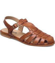 sandals - flat - closed toe - op shoes summer shoes flat sandals brun angulus