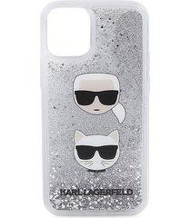 karl lagerfeld liquid glitter iphone 12 mini case