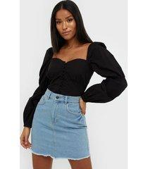 nly trend mini denim skirt minikjolar light blue