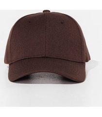 womens come to a head corduroy baseball cap - brown