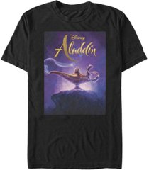 disney men's aladdin live action short release date poster sleeve t-shirt