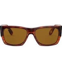 ray-ban ray-ban rb2187 striped havana sunglasses