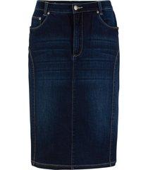 gonna in jeans con cinta comfort (nero) - bpc bonprix collection