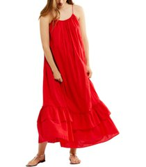 a pea in the pod cotton tiered maxi maternity dress