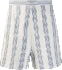 noon by noor striped smokey shorts - white