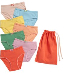 toddler girl's mini boden kids' assorted 7-pack panties, size 2-3y - pink
