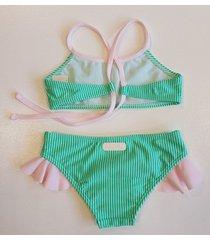 bikini  verde stai zitta cardo