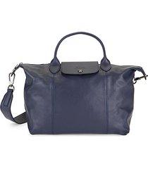 foldable leather satchel