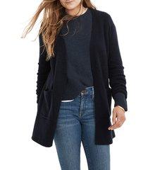women's madewell kent cardigan sweater, size xx-large - blue