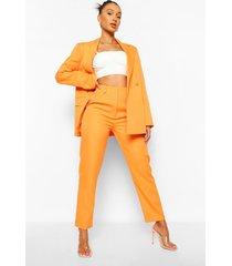 mix & match felle broek met rechte pijpen, orange