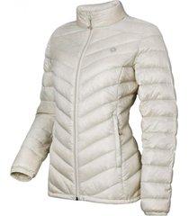 chaqueta pluma eboni stripe blanco doite