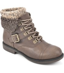 cliffs by white mountain women's daley lace-up bootie women's shoes