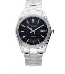 orologio automatico con cinturino e cassa in acciaio per uomo