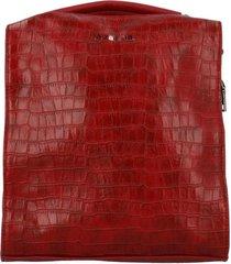 cartera mochila convertible blu casual rojo azaleia