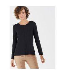 camiseta liz easywear manga longa feminino