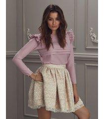 spódnica lavanda różowa
