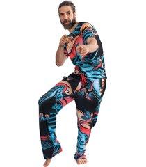 pijama thais gusmão longo andorinha colorido