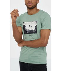 jack & jones jorpanax tee ss crew neck slim fit t-shirts & linnen grön