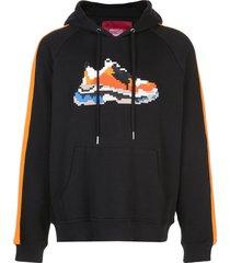 mostly heard rarely seen 8-bit vibrant wave raglan hoodie - black