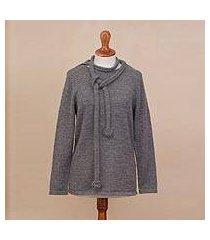 100% alpaca sweater, 'smoky beauty' (peru)