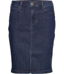 skirt kort kjol blå lee jeans